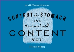 Content the Stomach and the Stomach will Content You
